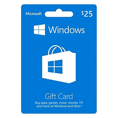 Microsoft Windows – Carte cadeau de 25 $ CAN [Téléchargement]