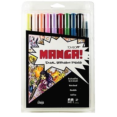 Tombow - Marqueur double pointe couleurs Manga, ens. de 10 morceaux (56173)