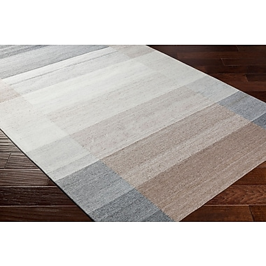 Ebern Designs Dree Hand-Woven Gray/Brown Area Rug; 5' x 7'6''