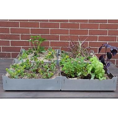 Shift 1.5 ft. x 1.5 ft. Aluminum Raised Garden Planter (Set of 4)