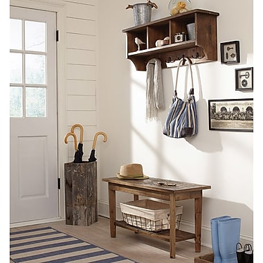 Gracie Oaks Dhaval Wall Mounted Coat Rack w/ Bench