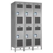 Jorgenson Lockers 2 Tier 3 Wide Storage Locker