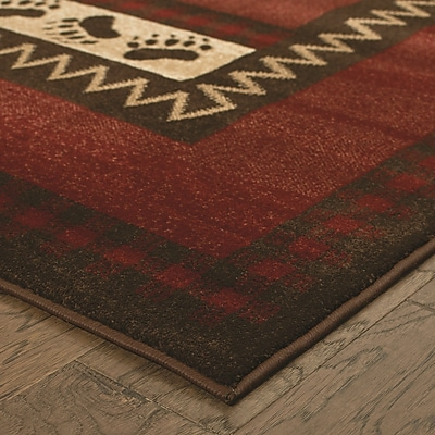 Balta Red/Brown Area Rug; 2' x 4'