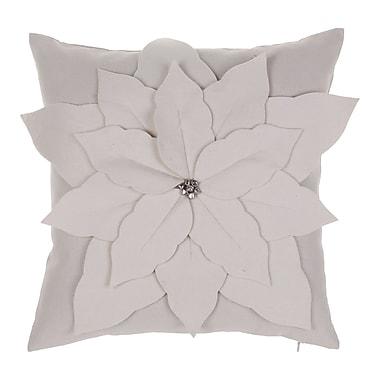 14 Karat Home Inc. Poinsettia Throw Pillow