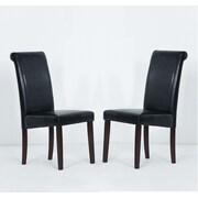 Warehouse of Tiffany Side Chair (Set of 8); Black