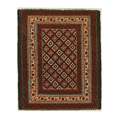 Eastern Rugs Baluchi Hand-Knotted Rust Area Rug; 2'4'' x 2'9''