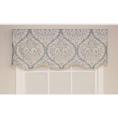RLF Home Provincial 50'' Curtain Valance; Splash Blue