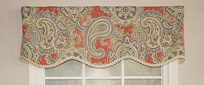 RLF Home Paisley Party 50'' Curtain Valance;
