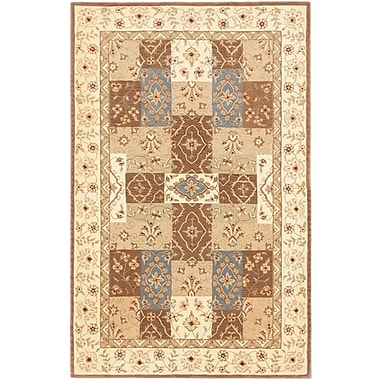 ECARPETGALLERY Classic Hand-tufted Brown/Ivory Area Rug