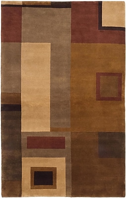 ECARPETGALLERY Aurora Hand-Knotted Beige/Light Brown Area Rug