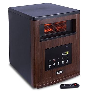 Della Cabinet 1500 Watt Portable Electric Infrared Heater; Brown
