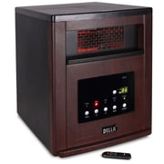 Della Cabinet 1500 Watt Portable Electric Infrared Heater; Cherry
