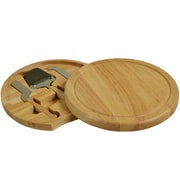 Picnic At Ascot Yorkshire 4 Piece Rubberwood Cheese Board Set