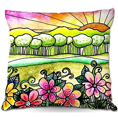 DiaNocheDesigns Robin Mead Bright Horizon Throw Pillow; 22'' H x 22'' W x 5'' D