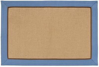 HFLT York Machine Woven Slate Blue Area Rug; 2' x 3'