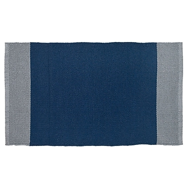 HFLT Linden Hand-Woven Navy/Gray Indoor/Outdoor Area Rug; 1'9'' x 2'10''