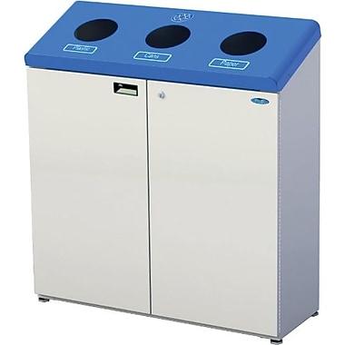 Frost - Station de recyclage verticale 3 compartiments, 201 litres, bleu et gris (F316)