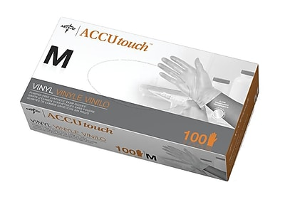 Medline Accutouch Synthetic Exam Gloves - CA Only - Medium - 100/Box (6MDS192075)