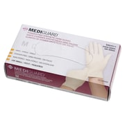 Medline MediGuard Synthetic Exam Gloves - CA Only - Medium - 100/Box (6MSV602)