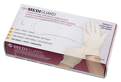 Medline MediGuard Synthetic Exam Gloves - CA Only - Large - 100/Box (6MSV603)