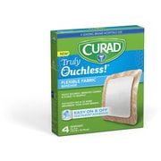 "Curad 4""X4"" Silicone Flexible Fabric Bandages 4ct (CUR5001)"