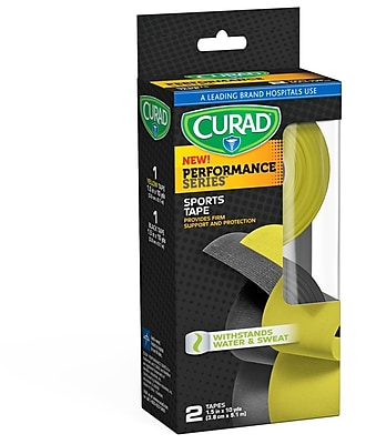 "Curad Performance Series™ Black/Yellow Sports Tape - 2 pack - 1.5"" x 10 yds. (CUR5029)"
