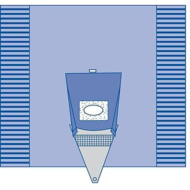 Medline Sterile Craniotomy Surgical Drape with Pouch - 100