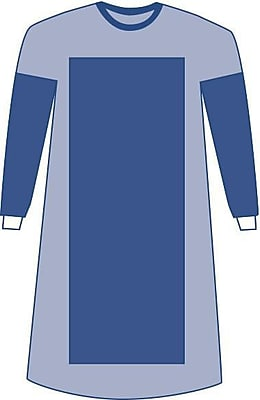 Medline Sterile Poly-Reinforced Sirus Surgical Gowns - Blue - XL - 18ct (DYNJP2203S)