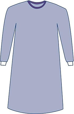 Medline Sterile Non-Reinforced Aurora Surgical Gowns with Set-In Sleeves - Blue - X-Large - 30ct (DYNJP2702)