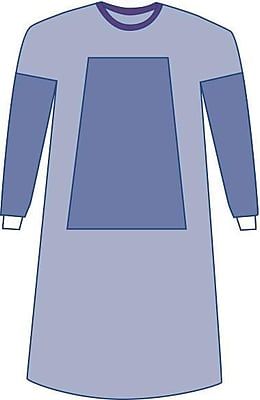 Medline Sterile Fabric-Reinforced Aurora Surgical Gowns w/Set-In Sleeve - Blue - X-Large - 30ct (DYNJP2705)