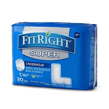 Medline FitRight Super Protective Underwear - Large - 40