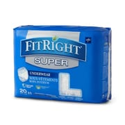 """Medline FitRight Super Protective Underwear - Large - 40""""-56"""" - 20/Bag (FIT33505A)"""