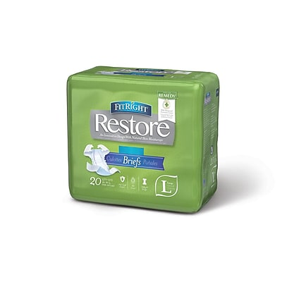 Medline FitRight Restore Super Briefs - Large - 48