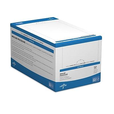 Medline Sterile Powder-Free Nitrile Exam Glove Pairs - Medium - 50 Pairs/Box (MDS198315)