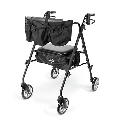 Medline Stealth Rollator - Matte Black (MDS86835HE)
