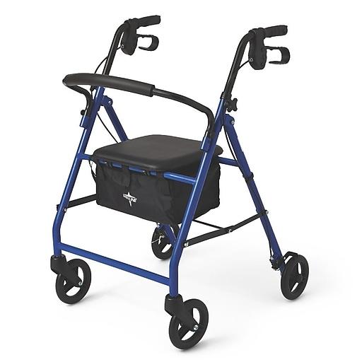 """Medline Basic Steel Rollators - 6"""" - Blue (MDS86850EBS)"""