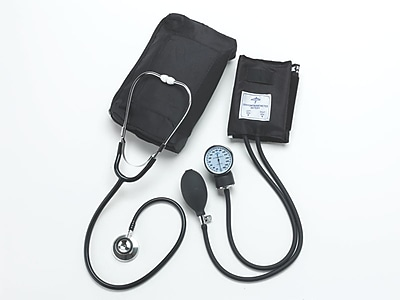 Medline Compli-Mates Dual Head Aneroid Sphygmomanometer Combination Kits Adult (MDS9120)