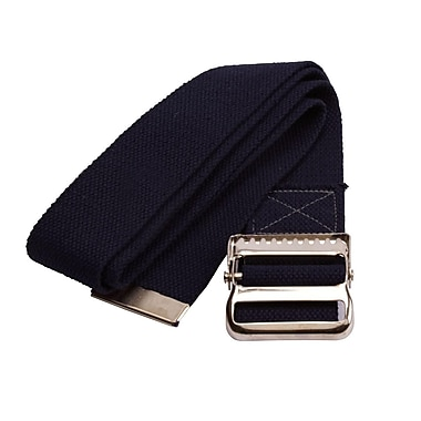 Medline Washable Cotton Material Gait Belts - Black - 54