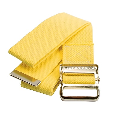 Medline Washable Cotton Material Gait Belts - Fall Management - Yellow - 60