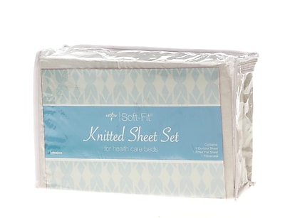 Medline Soft-Fit Knitted Contour Sheets - 6 Sets/Case (MDTDEALERPK2)