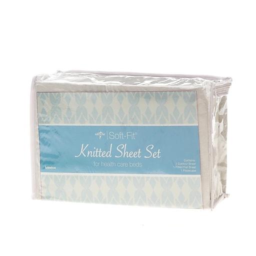 Medline Soft-Fit Knitted Contour Sheets - 6 Sets/Case (MDTDEALERPK2)