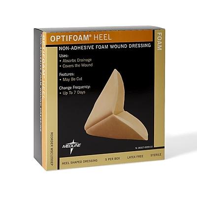 Medline Optifoam Heel Wound Dressing - Non-Adhesive - Heel (MSC1200EPZ)