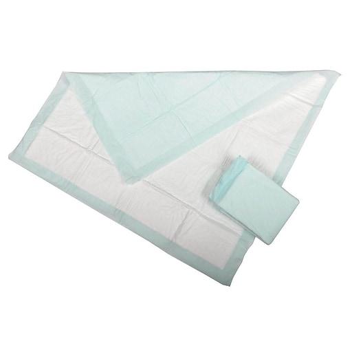 "Medline Protection Plus Polymer Underpads - 23x36"" - Green - 10/Bag (MSC282036P)"
