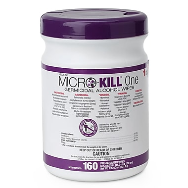 Medline Micro-Kill One Germicidal Alcohol Wipes - 160CT (MSC351300)