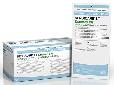 Medline SensiCare LT with Aloe Custom Fit Surgical Gloves - 7.5 - 25 Pair/Box (MSG1175C)