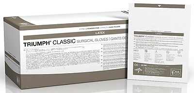 Medline Triumph Classic Latex Powder-Free Surgical Gloves - 6.5 - 50 Pair/Box (MSG5065)