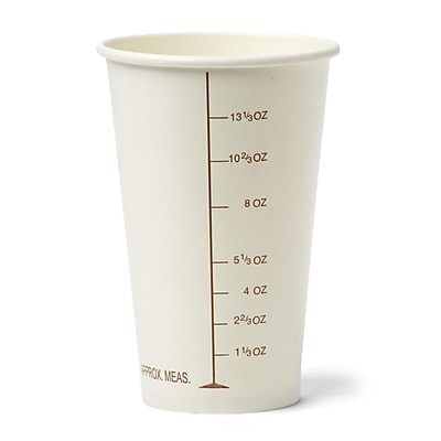 Medline Graduated Disposable Paper Drinking Cups - Barium - 16oz - 50/Pack (NON05016BAR) 2427702