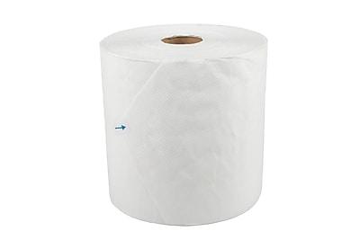 Medline Greensmart 1-Ply Standard Roll Paper Towels White 6 Rolls/Case (NONPBM800B)