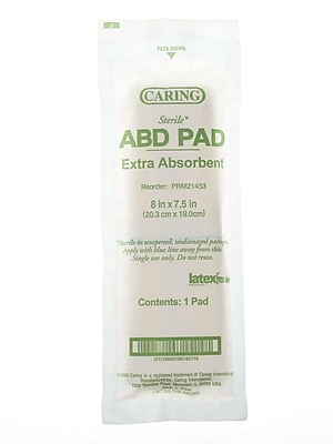Medline Caring Sterile Abdominal Pads - 8