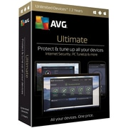 AVG® Ultimate 2017 Software, Unlimited Devices, Windows/Mac/Android (ULT17T24EN)